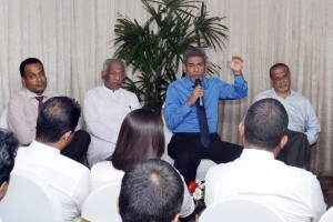 File pic of Dr. Dayan Jayatillake  at a recent Sunday Times  Business  Club  event