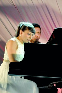 Shani the intense pianist:At her concert in Colombo at the Cinnamon Grand and (below left) in a relaxed mood. Pix by Indika Handuwala