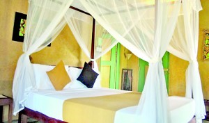 Comfort within: Cosy beds and mosquito nets