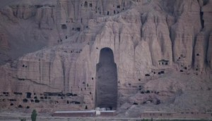 A close-up view of the Large Buddha niche in Bamiyan in central Afghanistan (REUTERS)