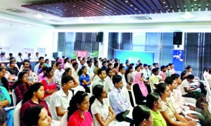 A section of the audience at a recent seminar for 'budding' accountants to promote the stock market