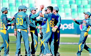 Action at the U-19 World Cup match between Sri Lanka and England