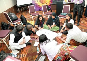 Young participants at the CHOGM Youth conference