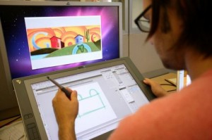 The Google Doodle team works on a tribute to Freddie Mercury (AFP)