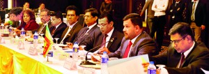 Rishad Bathiudeen (Minister of Industry and Commerce-second from right) leads the Sri Lankan delegation at the 8th session of Iraqi-Sri Lanka Joint Economic Sessions at International Palestine Hotel, Baghdad on 25 February.