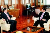Top Chinese bank official meets Cabraal