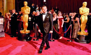 Leonardo DiCaprio at the Oscars. Pic courtesy AFP