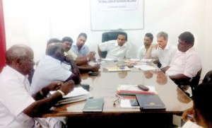 Fisher representatives from the North, East and Puttalam at the National Union of Seafarers Sri Lanka (NUSS) office on Lauries Road Bambalapitiya on Friday