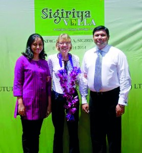Pictured here are Future Hotels (Pvt) Ltd Managing Director Chamindika Jude Samaraweera(right), Future Hotels (Pvt) Ltd , Director Sharmini Perera and Gemini Villas, Sigiriya Managing Director Marion Alice Loader (centre)
