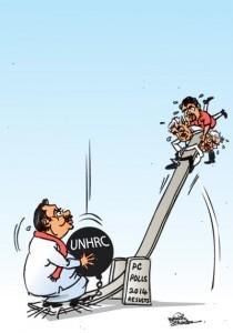 Sinking Rajapakse's