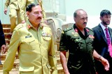 Pakistan's top military officer at Shri Maha Bodhi