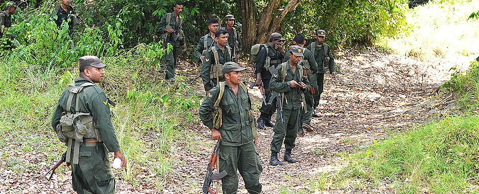 Operation in the Mullaitivu jungles