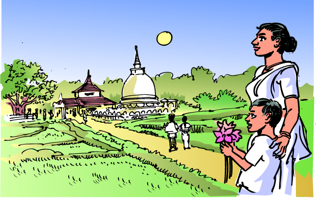 Image result for buddha in village cartoon