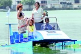 Waveless boat makes maiden voyage at Colombo Rowing Club