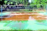 5 million Rupee outdoor Volleyball court at Vijitha retains water
