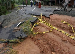 Floods expose shoddy carpeting of roads
