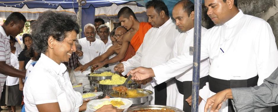 Sri Lanka aglow in Poson Poya celebrations