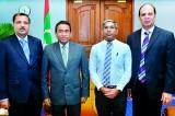 SAFA President and VP meet Maldivian President
