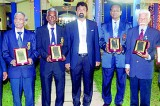 Former national football players felicitated