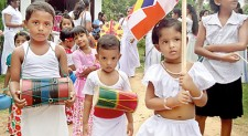 Poson Perahera by kids