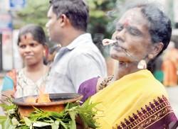Fiery faith of devotees