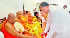 Ceremony to invoke blessings on C.M.B. Bogollagama