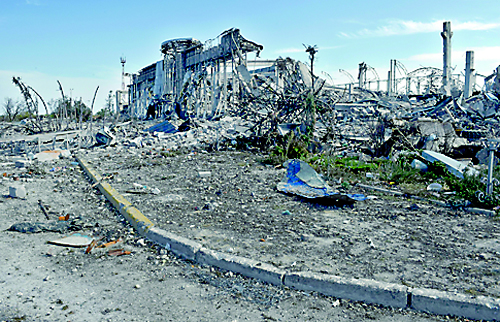 The destroyed lugansk international airport in eastern ukraine afp