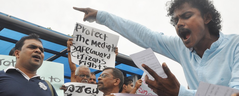 Blatant threats and attacks prompt media protests