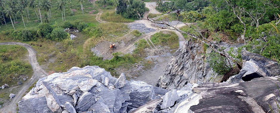 Between a rock and a hard place: forest paradise vs quarry jobs