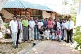 Sri Lanka and West Indies teams at Dickwella Resort