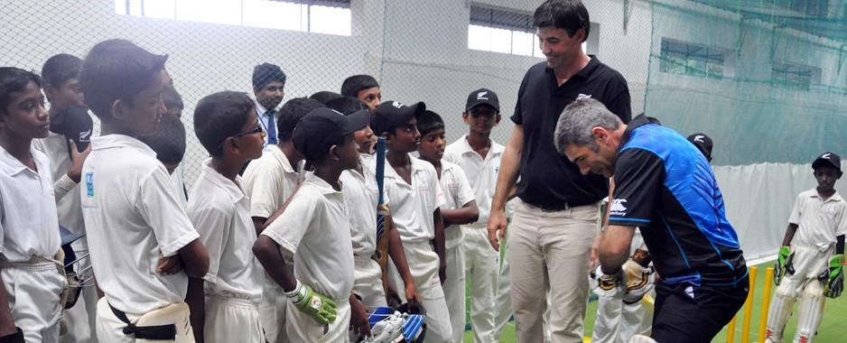 Different strokes with a cricketing hero
