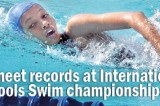 17 meet records at International Schools Swim championship