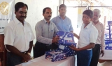 Chennai Rotoract Club gifts shoes to Jaffna school students