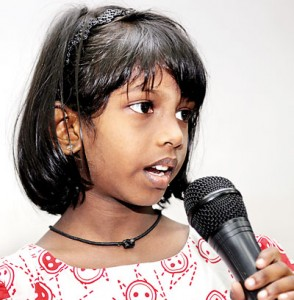 The young performers: Some were pros, others a little anxious. Pix by M.A. Pushpa Kumara