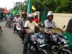 Govt. bikes at Sirisena rally