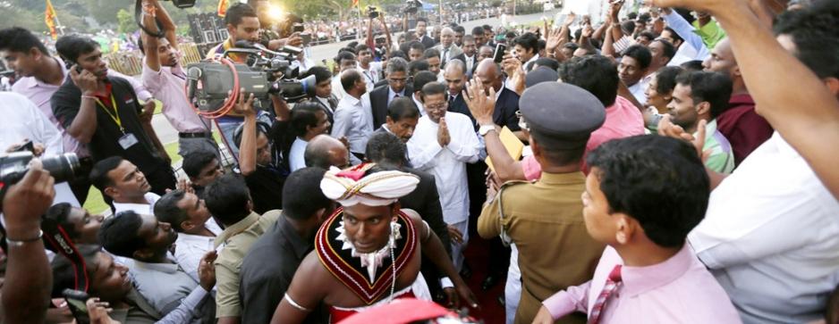 Maithri assumes Presidency sans much ado