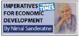 Reduction of large trade deficit third economic imperative