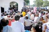 Protesting Brigadier's alleged verbal abuse of Principal