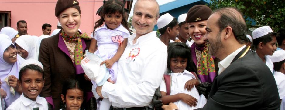 Etihad Airways helps in Sri Lankan education and health initiative