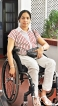 Partially paralysed Dr. Samanmali compensated for life in a wheelchair