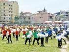 Keen contests at Muslim  Ladies College Kids Sports Meet