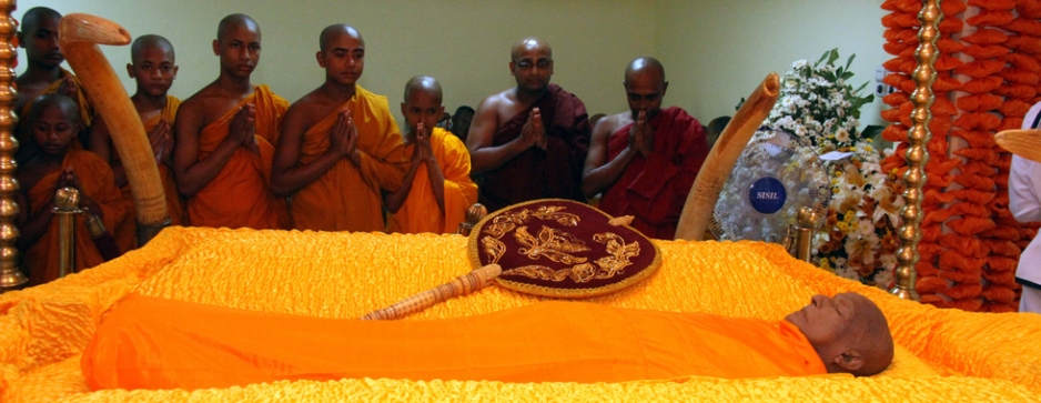 Asgiriya Mahanayake's cremation today with full State honours