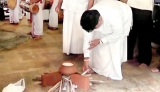 Hearth-lighting ceremony at the Maligawa