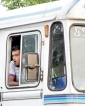Betel-chewing bus drivers on a dangerous high