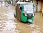 Matara town: Muddy and floody