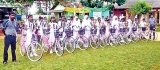 School children in Mutur now cycle to school