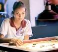 Schoolgirls dominate women's events