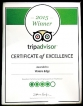 Water's Edge awarded TripAdvisor Certificate of Excellence 2015
