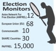 Foreign teams fan out to monitor election process