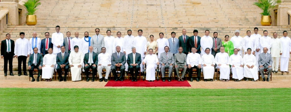 Two-party consensual Govt. appoints expanded  Cabinet with only 2 women